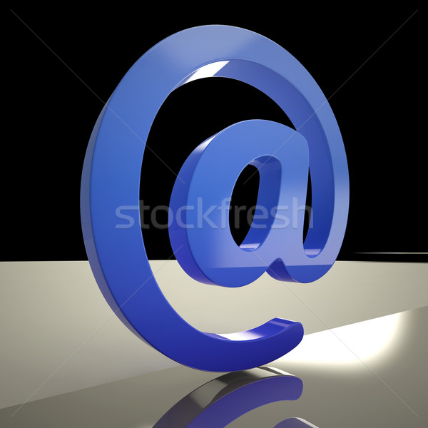 At Sign Means Communication Internet And Mail Stock photo © stuartmiles