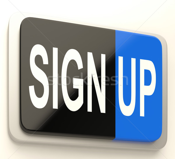 Sign Up Button Showing Website Registration Stock photo © stuartmiles