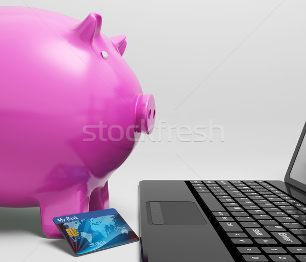 Сток-фото: компьютер · линия · деньги