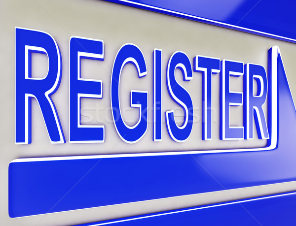 Register Sign Button Showing Website Members Stock photo © stuartmiles