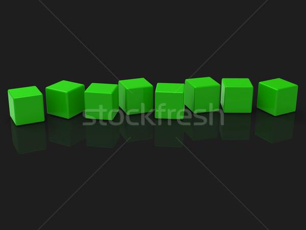 восемь блоки шоу копия пространства письме слово Сток-фото © stuartmiles