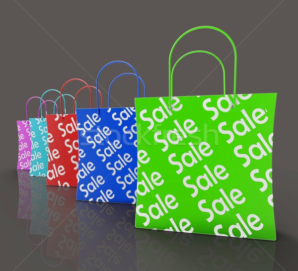 Sale Reduction Shopping Bags Shows Bargains Stock photo © stuartmiles
