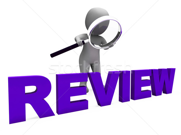 Review Character Shows Reviewing Evaluate And Reviews Stock photo © stuartmiles