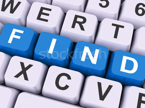 Find Keys Show Search Research Or Looking Online Stock photo © stuartmiles