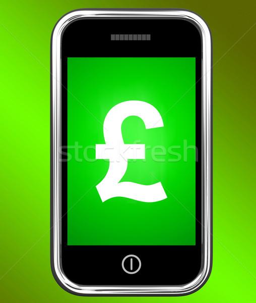 Font felirat telefon brit pénz mutat Stock fotó © stuartmiles