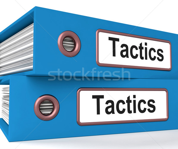 Tactics Folders Show Organisation And Strategic Methods Stock photo © stuartmiles