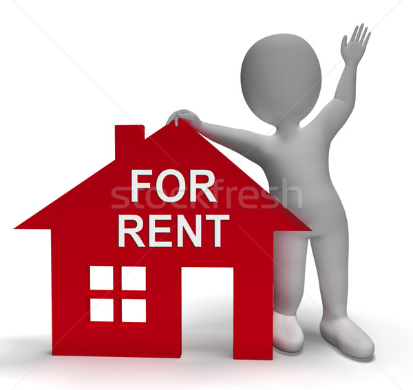 For Rent House Shows Rental Or Lease Property Stock photo © stuartmiles