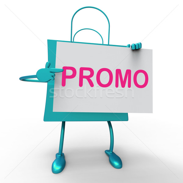 Promo Bag Shows Discount Reduction Or Save Stock photo © stuartmiles