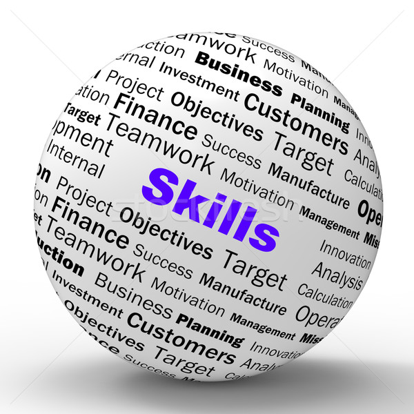 Skills Sphere Definition Means Special Abilities Or Aptitudes Stock photo © stuartmiles