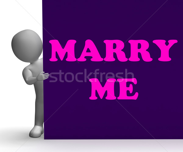 мне знак романтика брак смысл предложение Сток-фото © stuartmiles