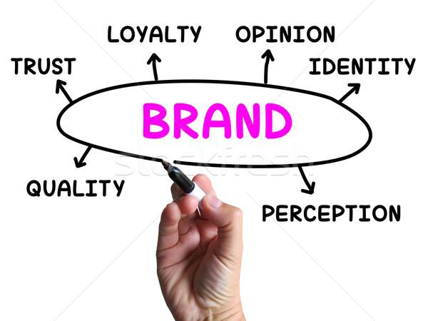 Marke Diagramm Unternehmen Identität Loyalität Stock foto © stuartmiles