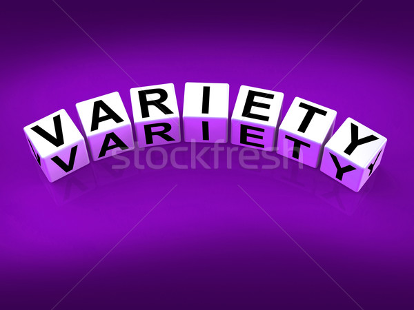 Variety Blocks Mean Varieties Assortments and Diversity Stock photo © stuartmiles