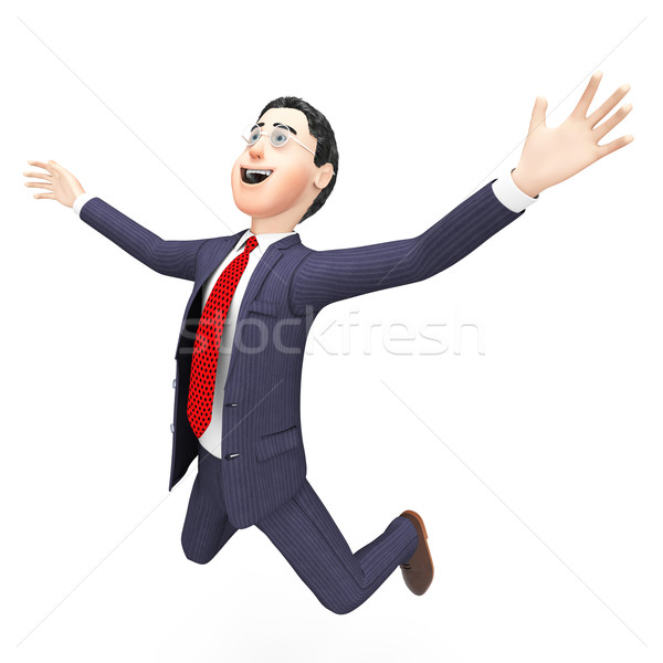 Businessman Felt Overwhelmed Means Victorious Stunned And Speechless Stock photo © stuartmiles