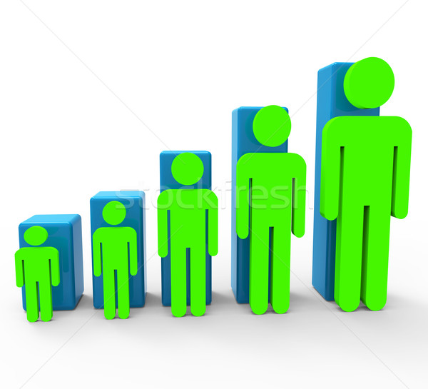 Population Increase Indicates Rising Friends And Togetherness Stock photo © stuartmiles