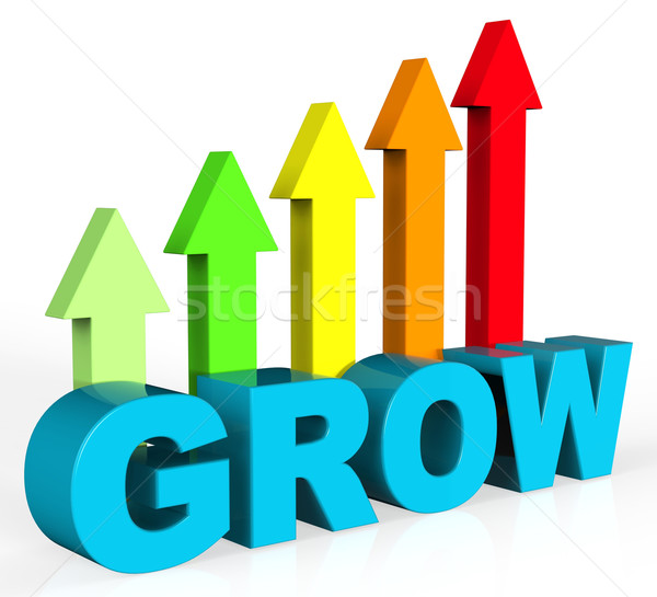 Grow And Invest Indicates Return On Investment And Develop Stock photo © stuartmiles