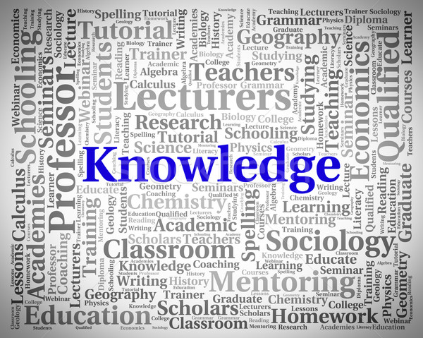 Knowledge Word Represents Understanding Words And Wisdom Stock photo © stuartmiles
