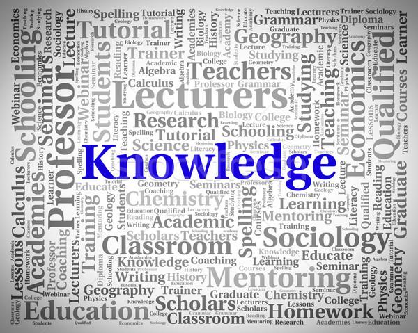 Conhecimento palavra palavras sabedoria significado educação Foto stock © stuartmiles