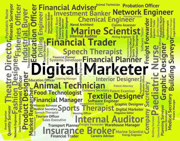 Digital Marketer Represents High Tec And Advertisers Stock photo © stuartmiles