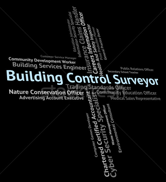 Building Control Surveyor Shows Word Buildings And Construction Stock photo © stuartmiles