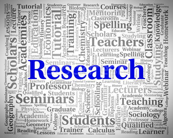 Kutatás szó gyűlés adat elemzés mutat Stock fotó © stuartmiles