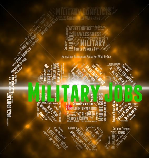 Militaire jobs leger defensie tonen krijgsmacht Stockfoto © stuartmiles