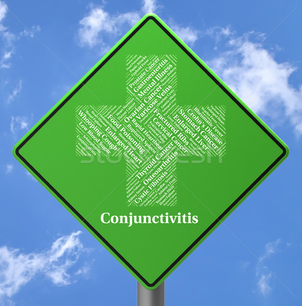Conjunctivitis Sign Represents Poor Health And Afflictions Stock photo © stuartmiles