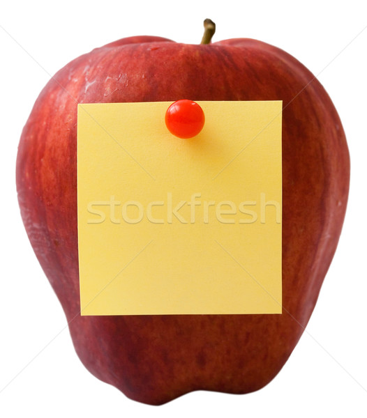 Nutritifs pomme un message post it note papier Photo stock © stuartmiles
