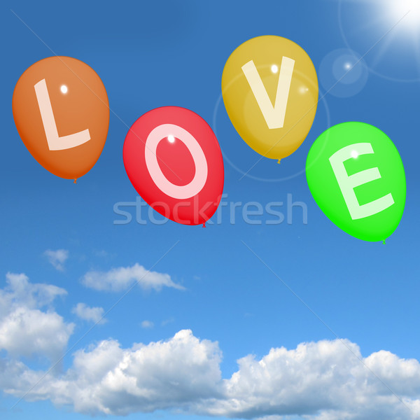 Amor globos cielo romance mostrar Foto stock © stuartmiles
