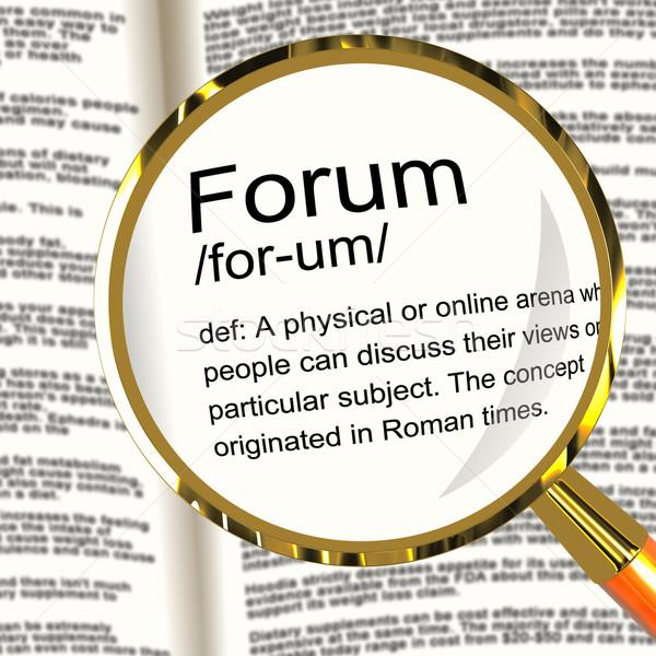 Forum tanım büyüteç yer çevrimiçi Stok fotoğraf © stuartmiles