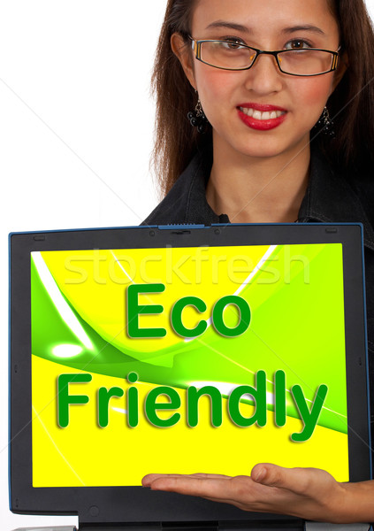 Eco Friendly Computer Message As Symbol For Recycling Stock photo © stuartmiles