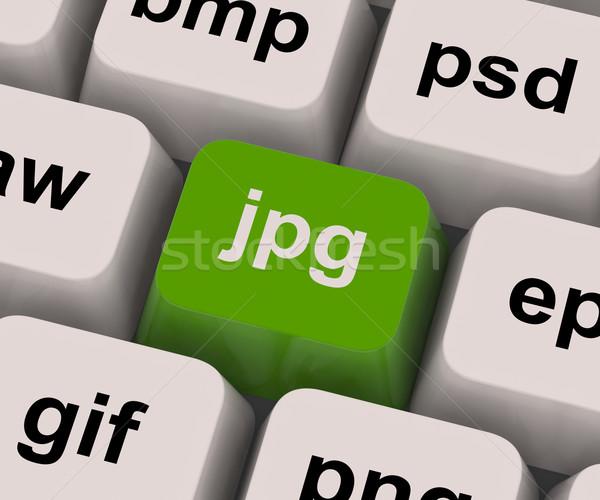 Jpg kluczowych obraz format Internetu zdjęcia Zdjęcia stock © stuartmiles
