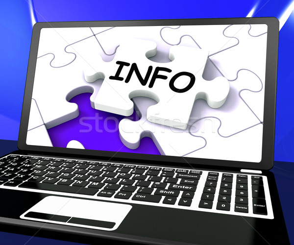 Info puzzel laptop online hulp web Stockfoto © stuartmiles