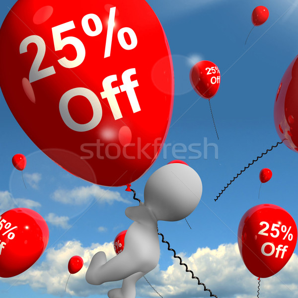 Balão 25 desconto vinte Foto stock © stuartmiles