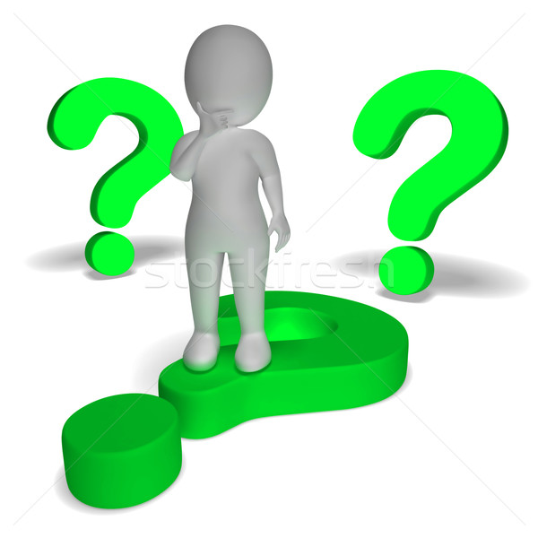 Question Marks Around Man Showing Confusion And Unsure Stock photo © stuartmiles