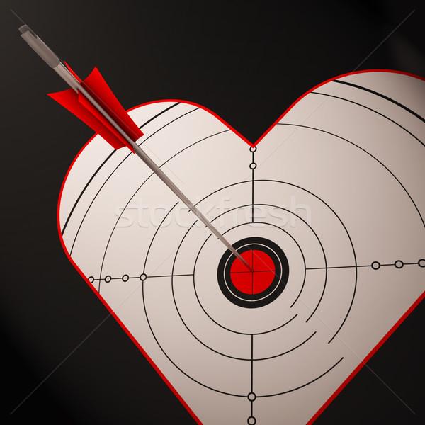 Heart Target Shows Successful Romance Stock photo © stuartmiles