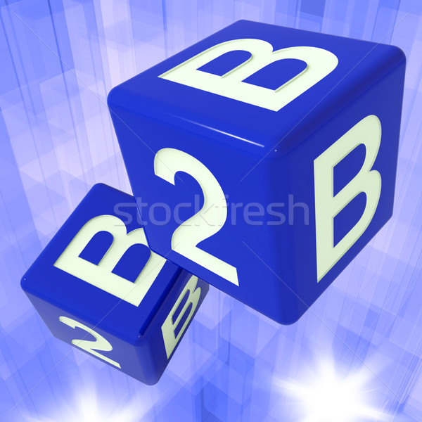 B2B Dice Background Showing Commercial Deals  Stock photo © stuartmiles
