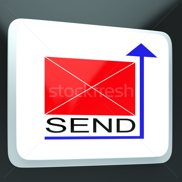 Send Mail Button Showing Online Correspondence Stock photo © stuartmiles