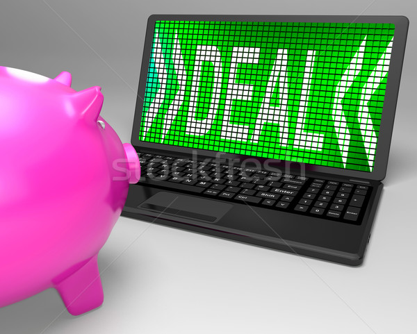 Deal On Laptop Shows Price Deals And Promotions Stock photo © stuartmiles