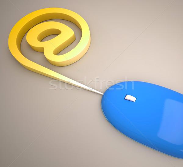 Egér felirat internet posta mutat kommunikáció Stock fotó © stuartmiles