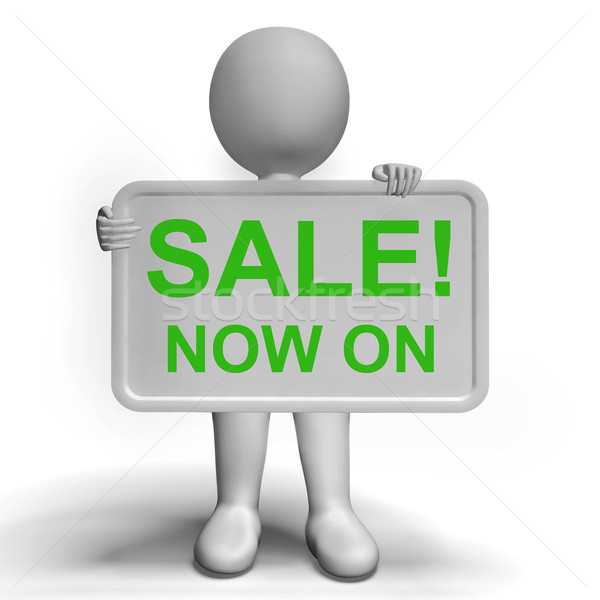 Sale Now On Message Board Shows Promotion Stock photo © stuartmiles