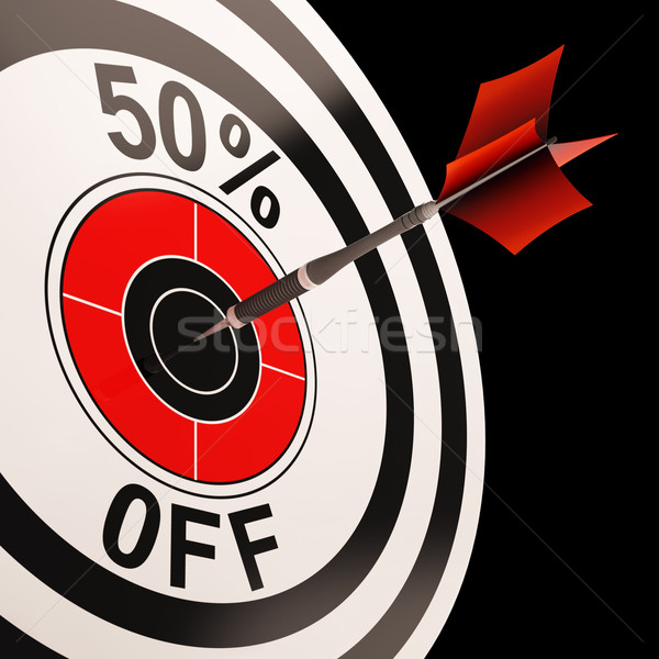 50 Percent Off Shows Percentage Reduction On Price Stock photo © stuartmiles