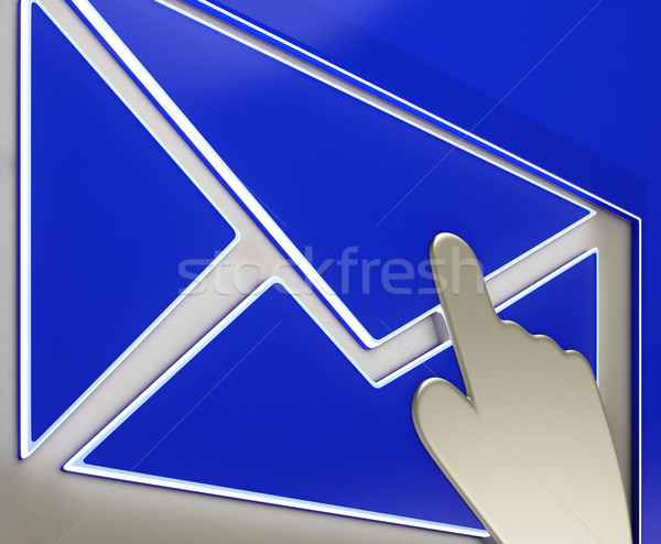 Envelope Button Showing Ongoing Emails Stock photo © stuartmiles