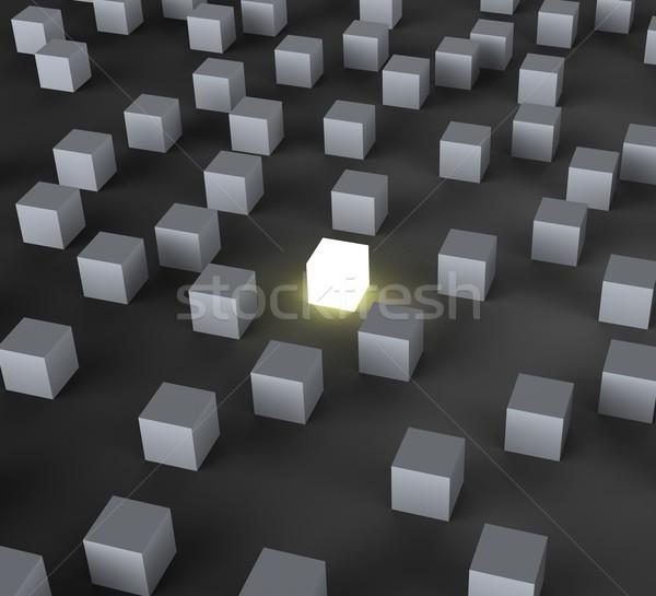 Unique Illuminated Block Shows Standing Out Stock photo © stuartmiles