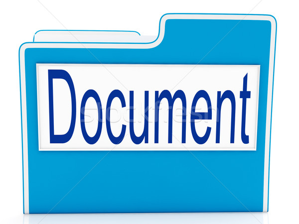 Document fichier paperasserie documents Photo stock © stuartmiles