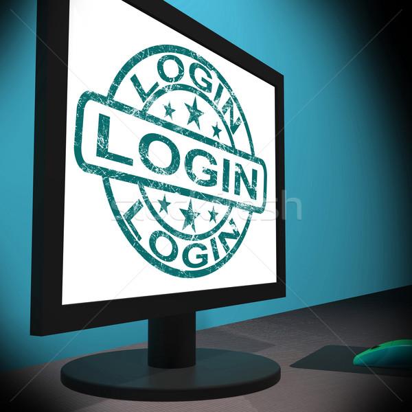 Login schermo web internet sicurezza Foto d'archivio © stuartmiles