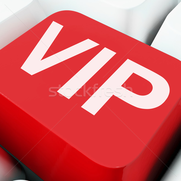 Stock photo: Vip Keys Show Influential Of Very Important Person
