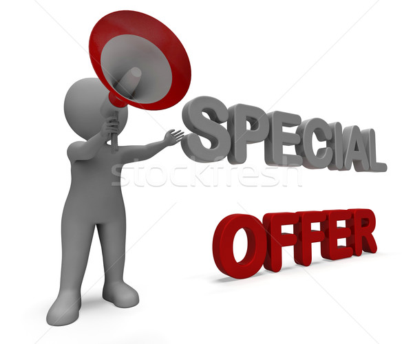 Special Offer Character Shows Bargain Offering Or Discount Stock photo © stuartmiles