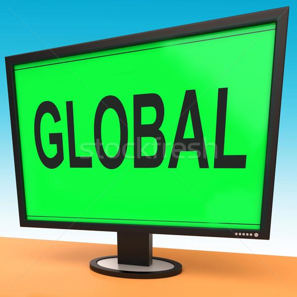グローバル モニター 世界的な 大陸の グローバル化 接続 ストックフォト © stuartmiles