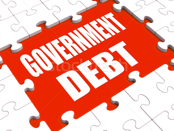 Government Debt Puzzle Shows Nation Penniless And Bankrupt Stock photo © stuartmiles