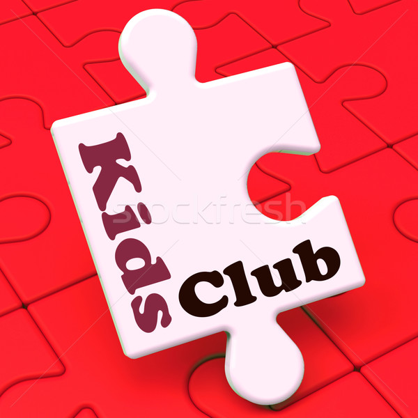 Kids Club Puzzle Shows Children's Or Toddlers Play Stock photo © stuartmiles